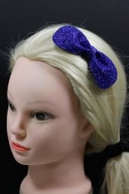 C780 Round glitter bow clip