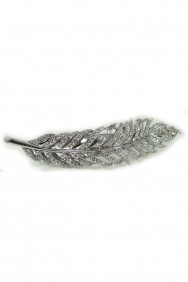 CJ13 Feather hair jaw clip