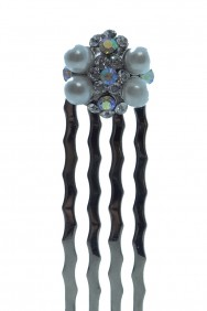 CM57-SMALL PEARL HAIR COMB
