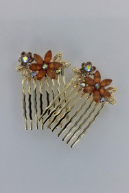 CMS105 Sun flower side hair comb (set of 2)