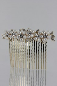 CMS110 Flower side hair comb