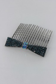 CMS3 Ribbon hair wedding side comb