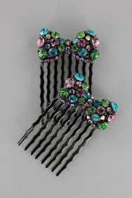 CMS60 Pair Ribbon Casual Hair Comb Jewelry