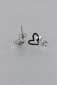 CZ-E272 AAA Grade Heart CZ Earring