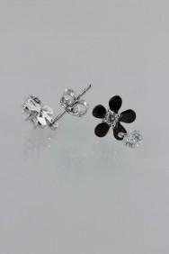 CZ-E274 AAA Grade Flower CZ Earring