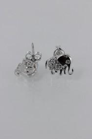 CZ-E283 Elephant CZ Earring