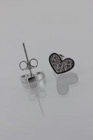 CZ-E284 Heart Pavement CZ Earring