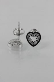 CZ-E285 Trendy Heart CZ Earring