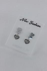 CZ-E286 Dangling Heart CZ Earring