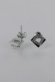 CZ-E289 AAA Grade Square Square CZ Earring