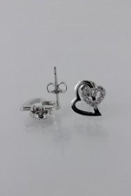 CZ-E293 Heart CZ Earring