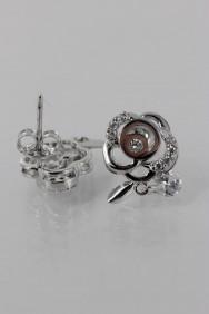 CZ-E295 Rose Cubic Earring