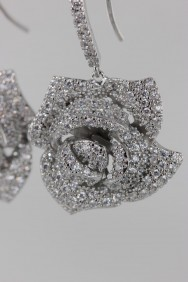 CZ-E297 (PRE-ORDER) Rose CZ Earring with fish hook