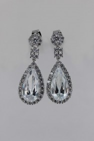 CZ-E320 (PRE-ORDER) Waterdrop Wedding Stud Earring
