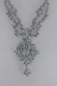 CZ-N213 (PRE-ORDER) Victorian style CZ necklace