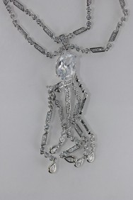 CZ-N217 (PRE-ORDER) Twisted CZ Necklace