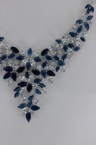 CZ-N219 (PRE-ORDER) Creative Sapphire CZ Necklace