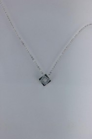 CZ-NP364 Square Cubic Zirconia Pendant Necklace