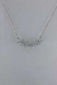 CZ-NP374 Star Flower CZ Pendant Necklace