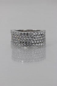 CZ-RS209 (PRE-ORDER) Simple Dimentional Line CZ Size Ring