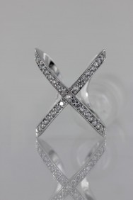 CZ-RS212 (PRE-ORDER) Modern Two CZ Size Ring