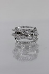 CZ-RS214 (PRE-ORDER) Dimentional CZ Size Ring