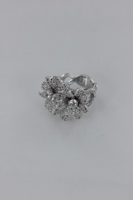CZ-RS222 (PRE-ORDER) Doulbe Flower CZ Size Ring
