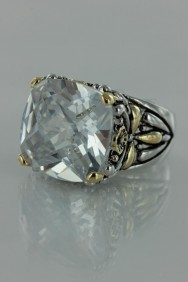 CZ-RS711 Clear Antique CZ Rings