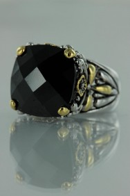 CZ-RS711 Black Antique CZ Rings