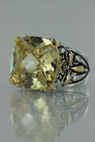 CZ-RS711 Canary Antique CZ Rings