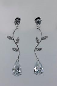 CZE19-913 CZ water drop earring