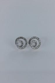 CZ-E210 Snail cubic zirconia earring