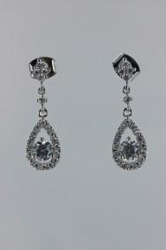 CZ-E217 Dew dangle CZ earring