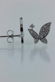 CZ-E266 Elegancy butterfly CZ earring