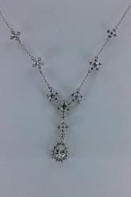 CZ-N204 Shiny pear CZ necklace