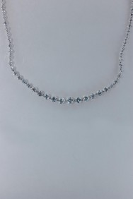 CZ-N206 Royal line tennis CZ necklace