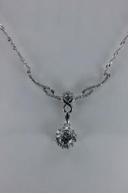 CZ-N207 Infinity motif CZ necklace