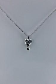 CZ-NP318 Heart dangle CZ Pendant Necklace
