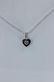 CZ-NP319 Simple heart CZ Pendant Necklace