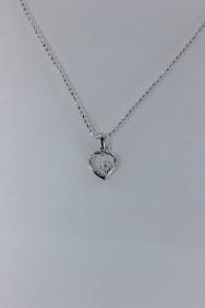 CZ-NP327 Point heart CZ Pendant Necklace