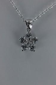 CZ-NP347 Ume flower CZ pendant