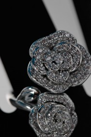 CZ-RA306 Rose double CZ Ring