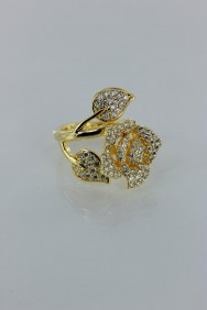 CZ-RA312 Bunch of rose CZ ring