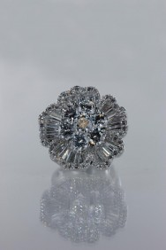 CZ-RS201 AAA Lux flower CZ Ring