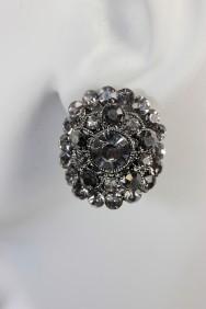 EC2520 oval clip on earring