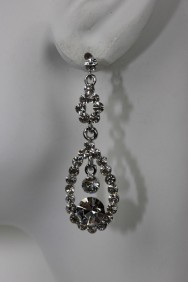 ER48 Double water drop stud earring