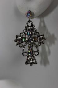 ER57 Roman Cross Stud Earring