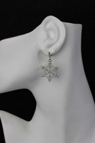 ER69 Snow Flake Large Stud Earring