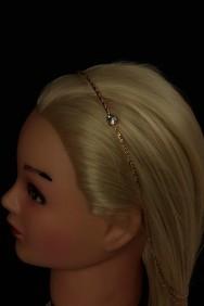 H116 Stone headband with back chain