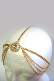 IHC-1007 Stone in middle of circle headchain